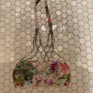 SAN LORENZO interlace reversible top pink & floral